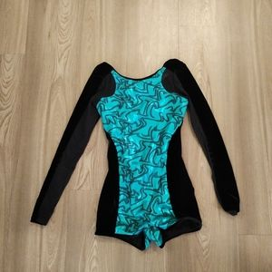 Weissman long sleeved dance leotard sz 14